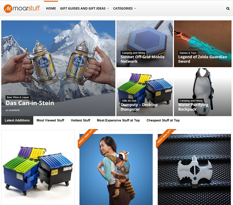 Moar Stuff E-commerce Sampole