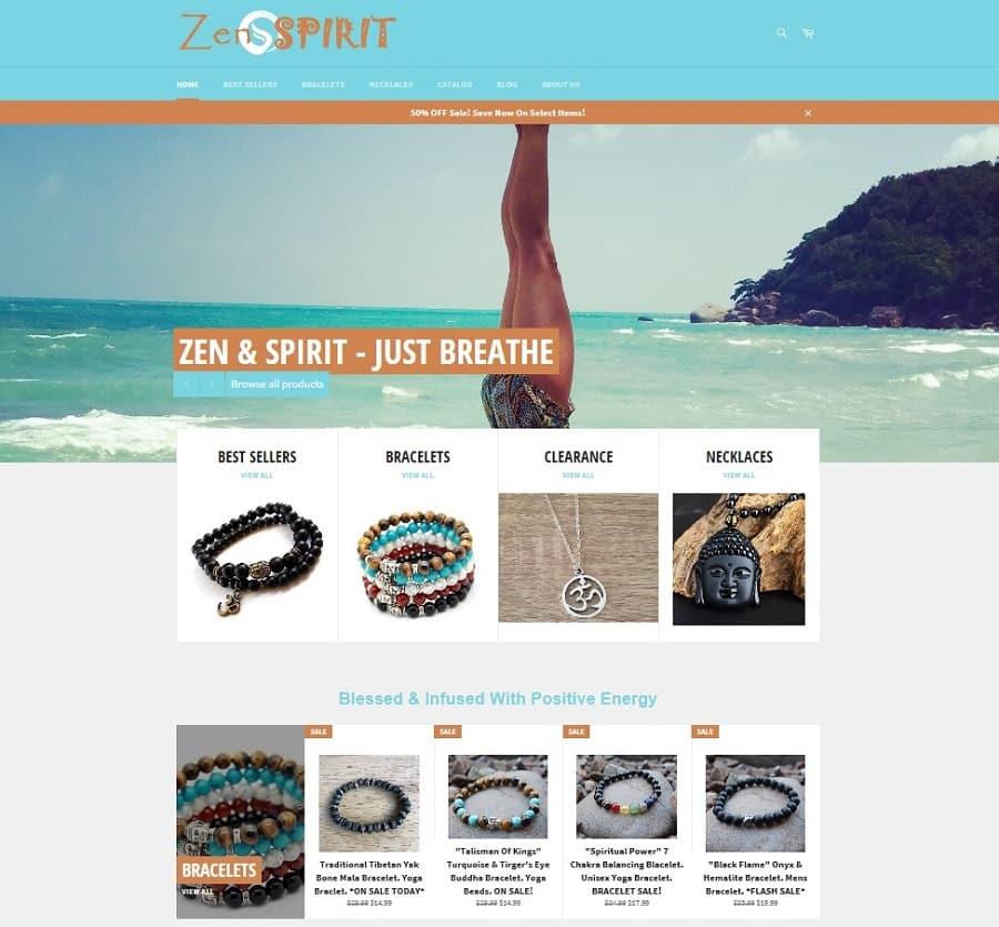 Zen and Spirit Example Site