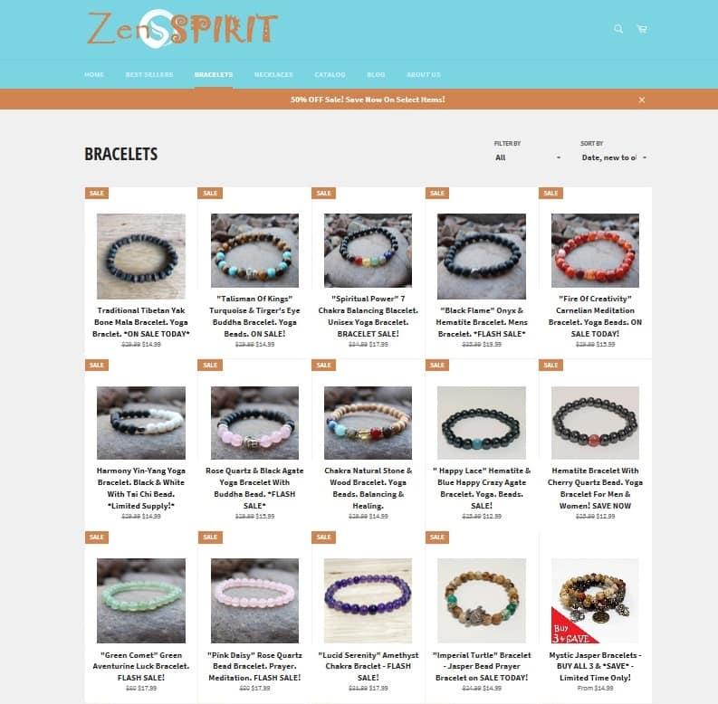 E-commerce site example